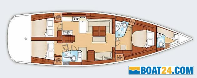 <b>Beneteau Oceanis 54</b><br/>lay out