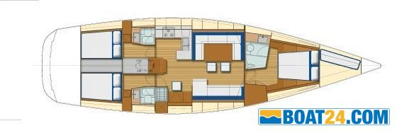 <b>Grand Soleil 54</b><br/>lay out