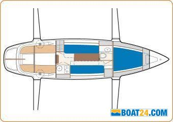 <b>Dragonfly 920</b><br/>lay out centre hull