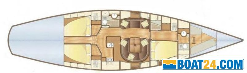<b>Truly Classic 56</b><br/>lay out interior