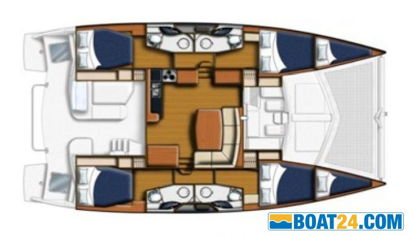 <b>Layout 4 cabin 4 heads</b>