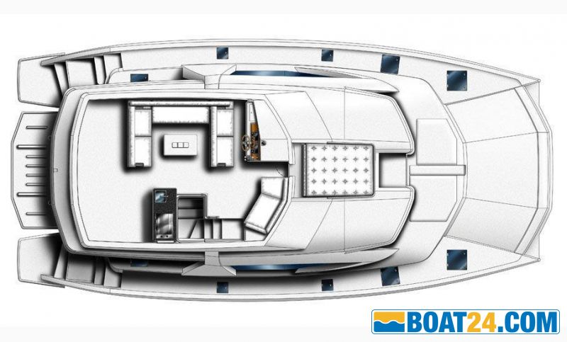 <b>Manufacturer Provided Image: Leopard 51 PC Flybridge Layout Plan</b><br/>