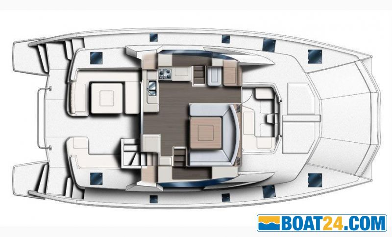 <b>Manufacturer Provided Image: Leopard 51 PC Main Deck Layout Plan</b><br/>