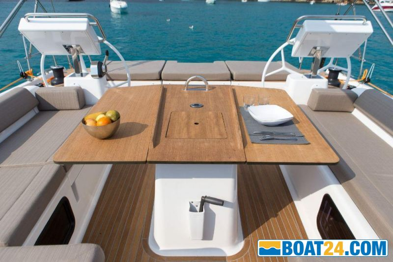 <i>catalog image</i><br/><b>Dufour 56 Exclusive</b><br/>cockpit table