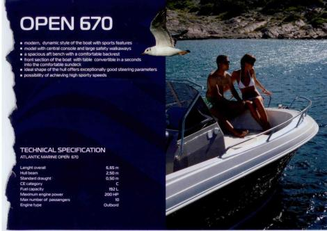 Atlantic Marine 670 open