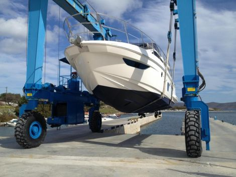 Yacht before wrap application