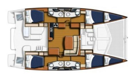 Layout 4 cabin 4 heads
