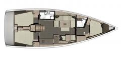 <b>Dufour 410 Grand Large, layout</b>
