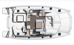 Manufacturer Provided Image: Leopard 51 PC Main Deck Layout Plan