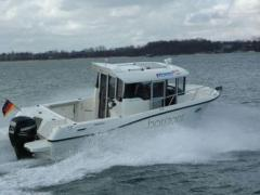 Quicksilver Capure 755 Pilothouse 150 PS Trailer Kabinenboot