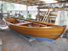 Ruderboot Angelboot Holzboot Barca a remi