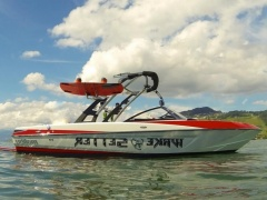 Malibu 21 VLX + Delta Mission Wake Shaper Wakeboard / Ski nautique