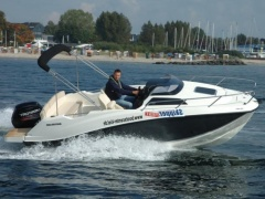 Quicksilver Activ 555 Cabin + 80 PS LAGERBOOT 1