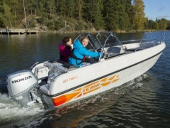 Terhi 475 TWIN C, HONDA 50, Trailer Fischerboot