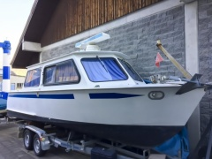 Hasler Arrow 28 Stahlboot Pilothouse Boat