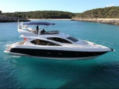 Sunseeker Manhattan 60 (2006) 2xD12-800 1 Hand!! Flybridge Yacht