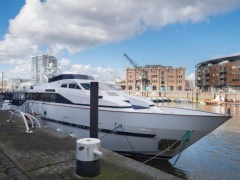 Azimut 90 ex Boot von Christina Onassis Flybridge
