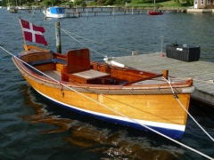 Motorboot Holz, Tuckerboot, Launch Tuckerboot