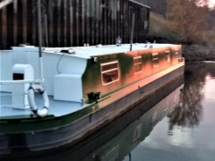 Widebeam (breites Narrowboat) Hausboot