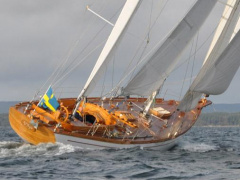 The wooden ketch Vilja Kits